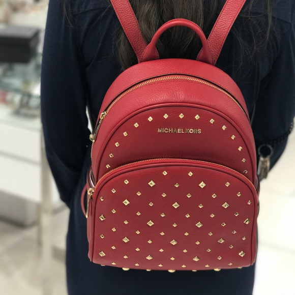 f23a733ad369 Michael Kors Bags | Abbey Medium Frame Out Stud Backpack | Poshmark